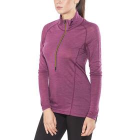 Devold Running Zip Neck LS Shirt Women Plum